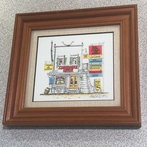 Other - Insurance Office framed/matted print